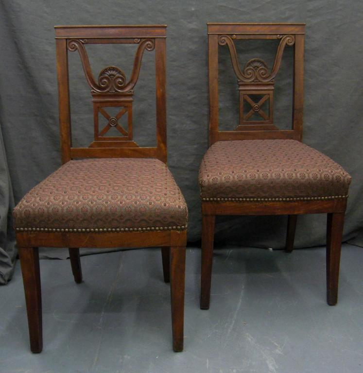 Pair of Neoclassical Jansen Side Chairs For Sale 1