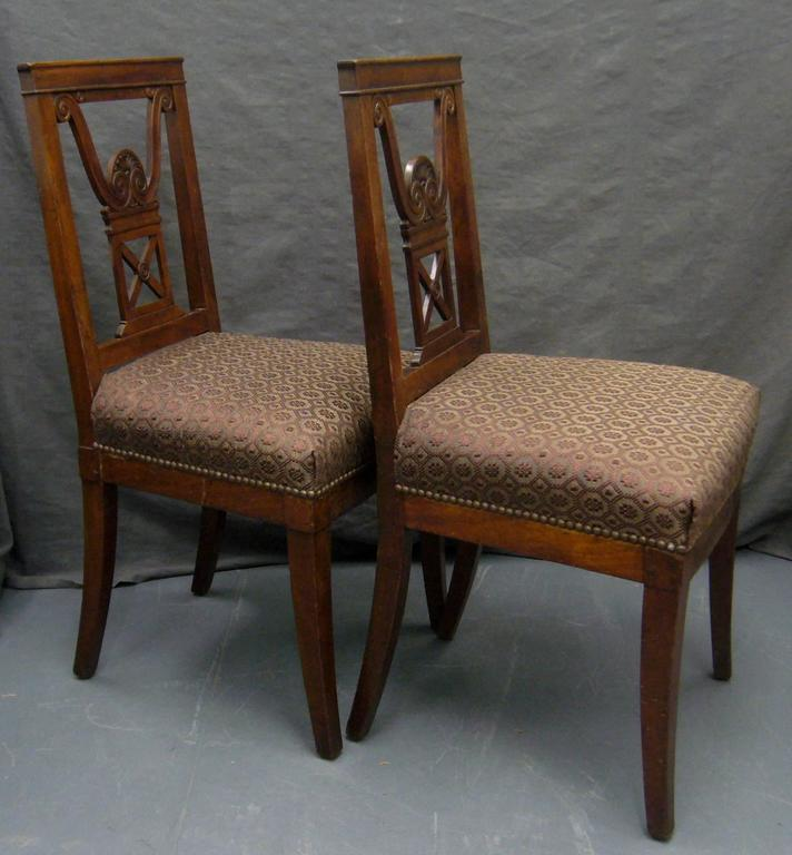 Pair of Neoclassical Jansen Side Chairs In Good Condition For Sale In New York, NY
