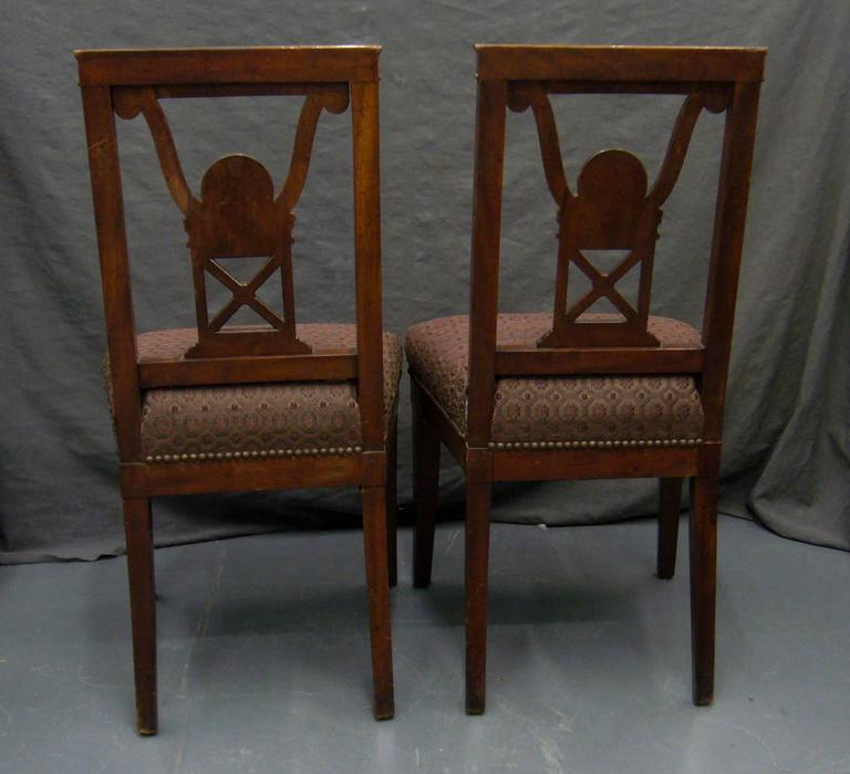 Pair of Neoclassical Jansen Side Chairs For Sale 2