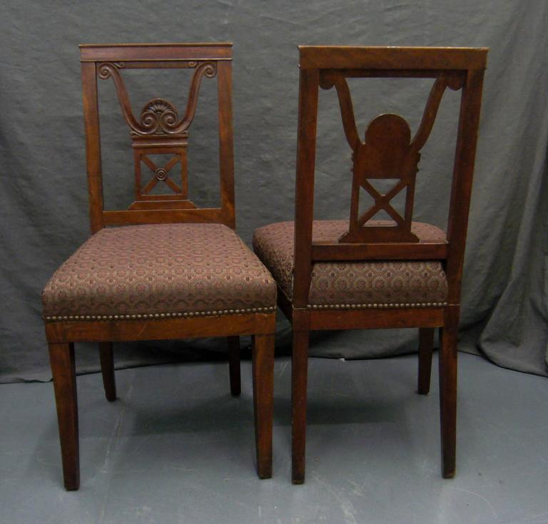 20th Century Pair of Neoclassical Jansen Side Chairs For Sale