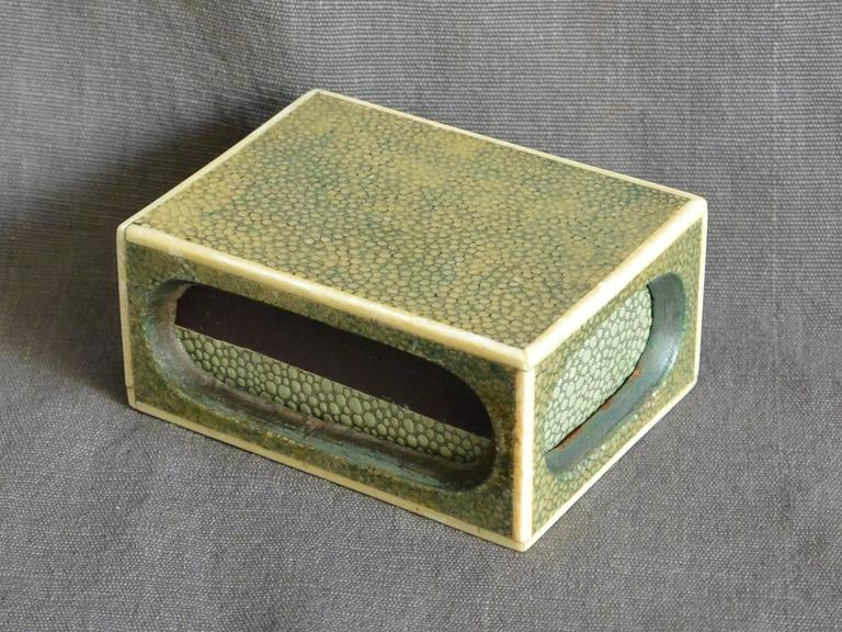 Shagreen Match Box  For Sale 2