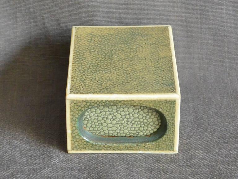 English Shagreen Match Box  For Sale
