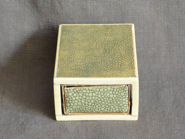 Shagreen Match Box  In Good Condition For Sale In New York, NY