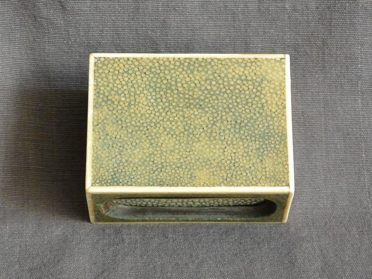 20th Century Shagreen Match Box  For Sale