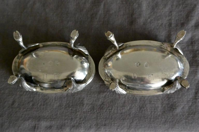 Pair of Austrian Silver Oval Salts  For Sale 1