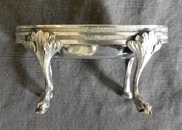 Sterling Silver Pair of Austrian Silver Oval Salts  For Sale