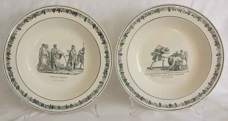 pair black and white creil creamware plates for sale at 1stdibs. Black Bedroom Furniture Sets. Home Design Ideas