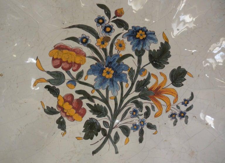 Italian Very Large Bassano Floral Centerpiece Bowl