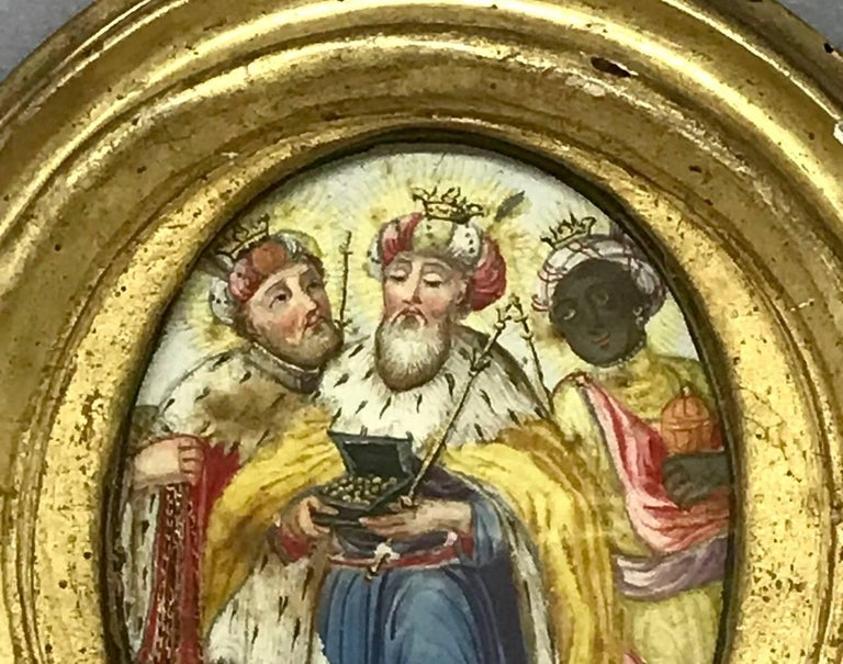 Louis XVI The Three Kings Miniature Painting For Sale