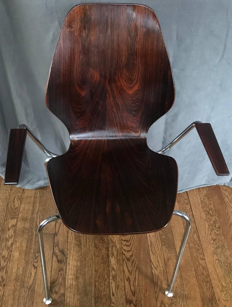 Midcentury Danish Rosewood Chair In Good Condition For Sale In New York, NY