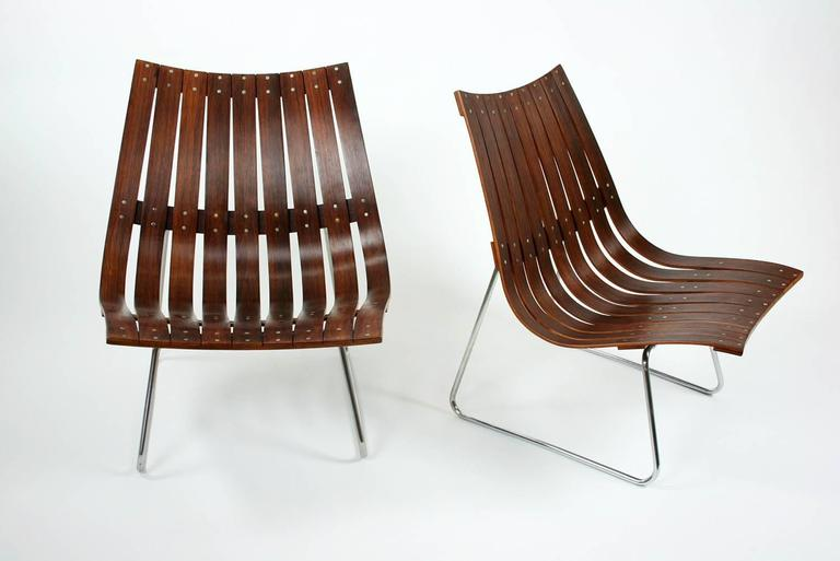 Rosewood pair of scandia lattice lounge chairs by hans for Furniture hove