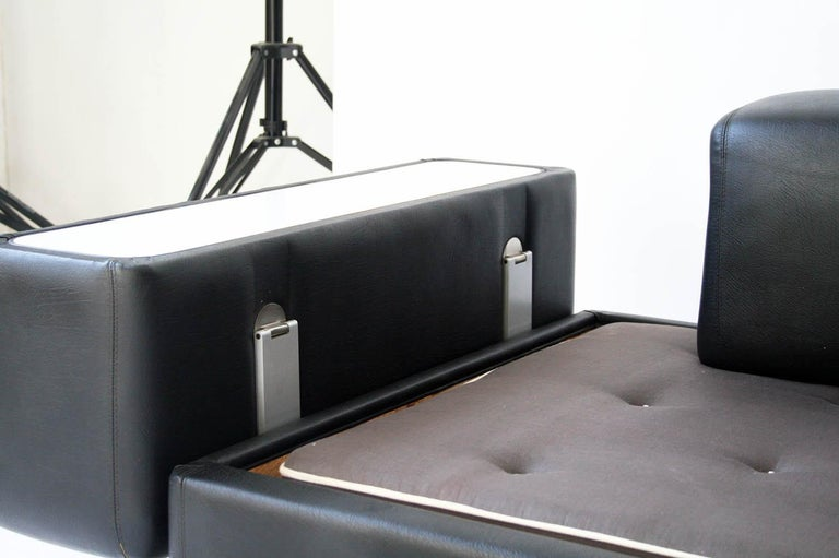 Steel 1960s Tito Agnoli Model 711 Sofa Bed for Cinova, Italy For Sale