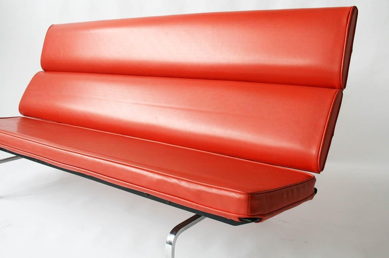 American Eames Sofa Compact in Original Fabric For Sale