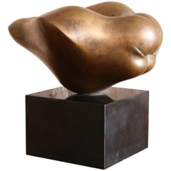Aldo Casanova Abstract Bronze Sculpture, Signed and Numbered