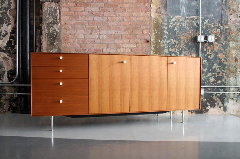 Mid-Century Modern Thin Edge Cabinet or Credenza by George Nelson for Herman Miller For Sale