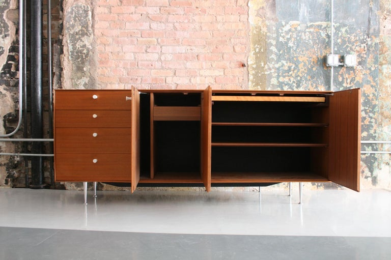 American Thin Edge Cabinet or Credenza by George Nelson for Herman Miller For Sale