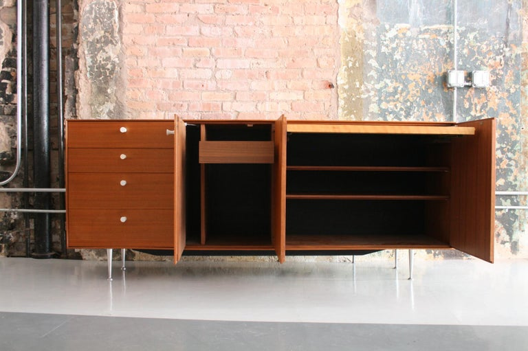 Thin Edge Cabinet or Credenza by George Nelson for Herman Miller In Good Condition For Sale In Chicago, IL