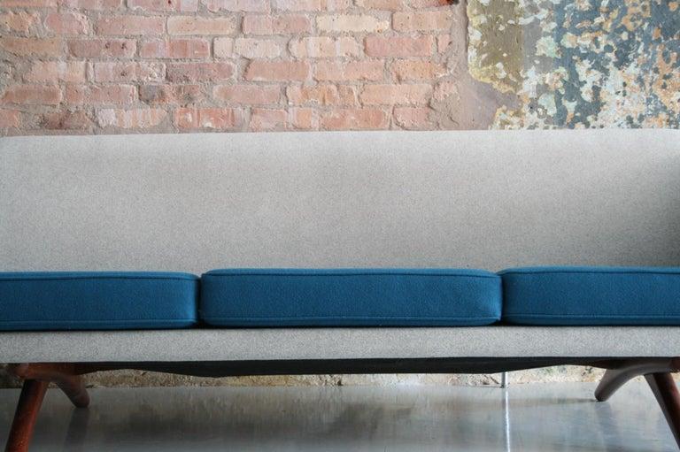 Mid-Century Modern Danish Sofa by Llum Wikkelso Sofa for Mikael Laursen, Denmark, Model ML-90 For Sale