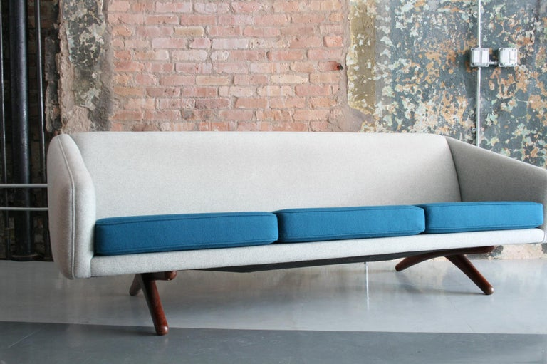 Danish Sofa by Llum Wikkelso Sofa for Mikael Laursen, Denmark, Model ML-90 In Good Condition For Sale In Chicago, IL