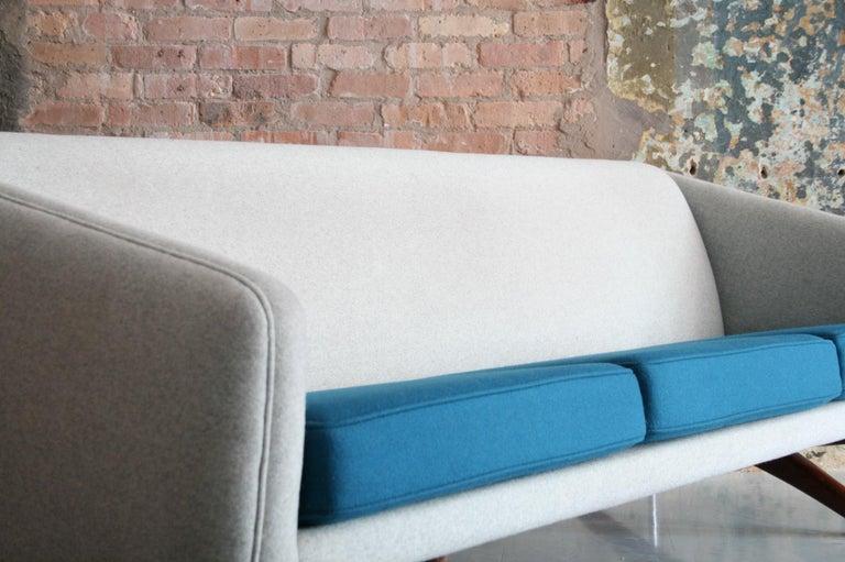 Teak Danish Sofa by Llum Wikkelso Sofa for Mikael Laursen, Denmark, Model ML-90 For Sale