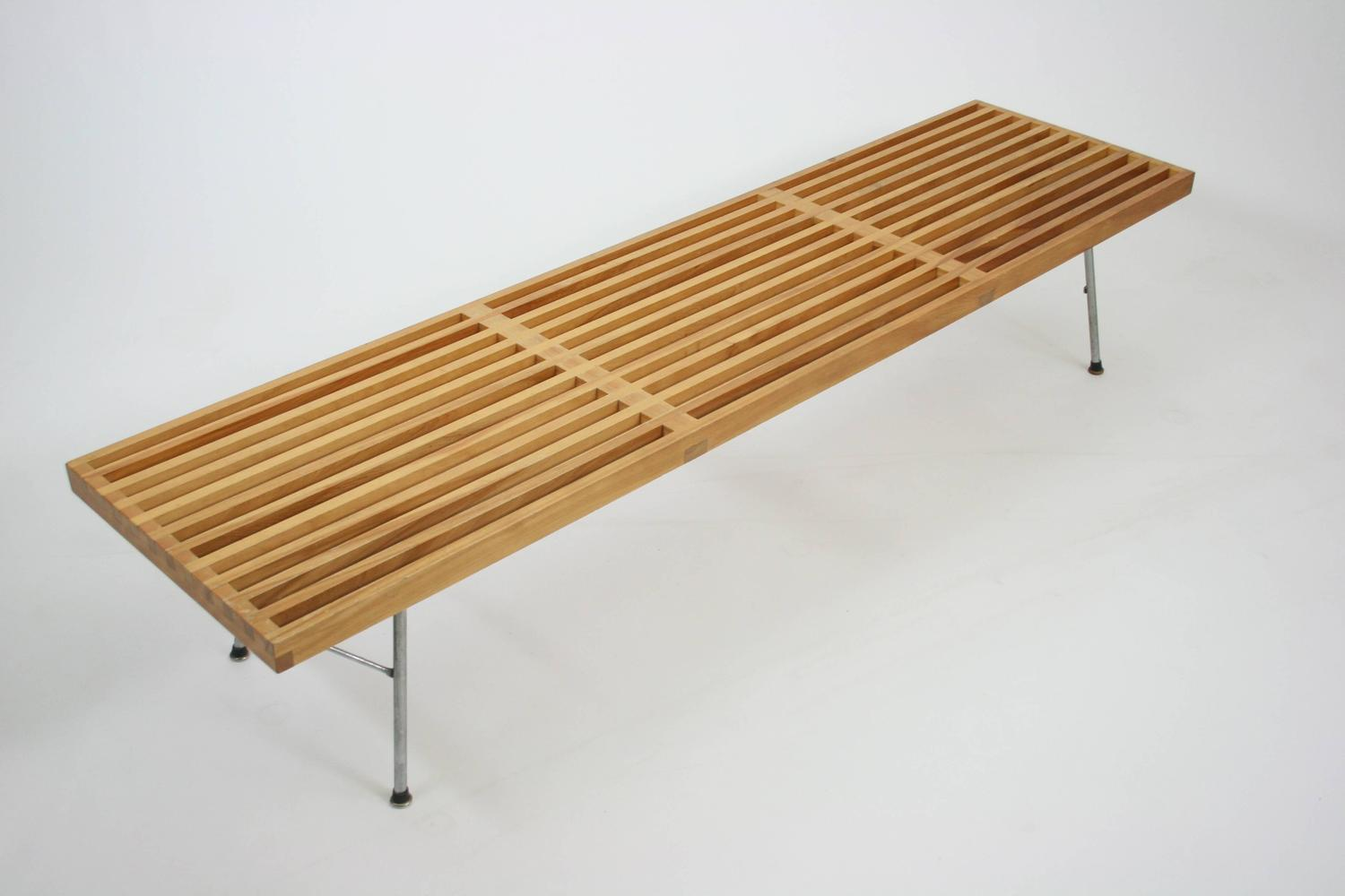 Early Slat Bench By George Nelson For Herman Miller At 1stdibs