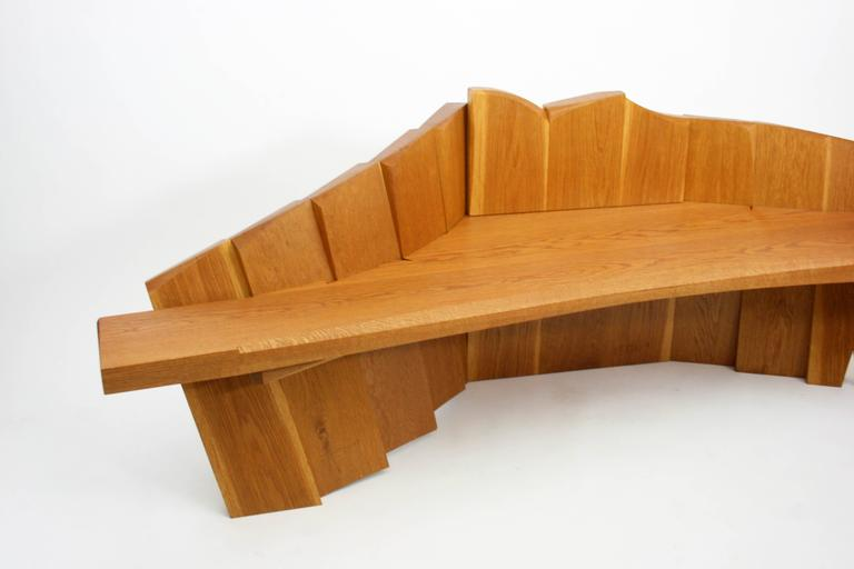 Nico Yektai Studio-Made Sculptural White Oak Bench Signed and Dated by Artist For Sale 1