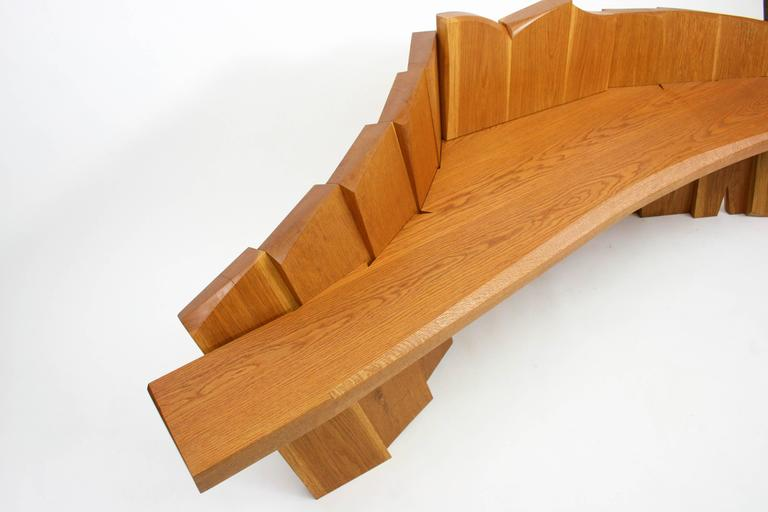 Nico Yektai Studio-Made Sculptural White Oak Bench Signed and Dated by Artist For Sale 3