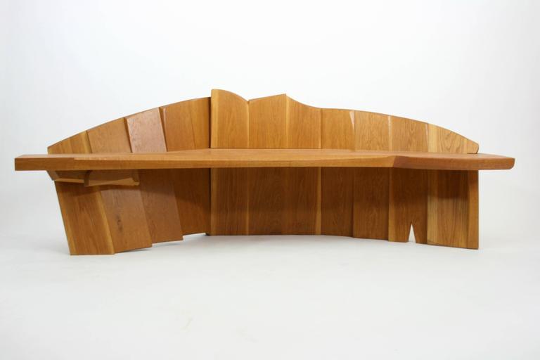 Nico Yektai Studio modernist oak bench model