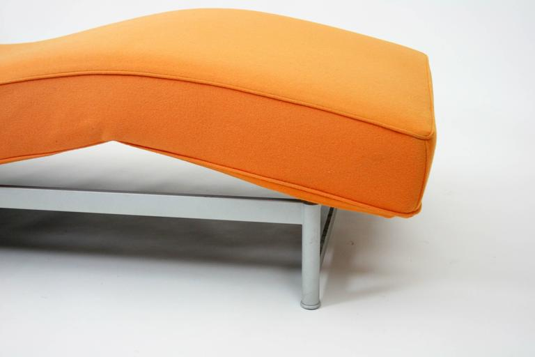 Piero lissoni reef bench chaise longue in orange felt for for Chaise longue cassina