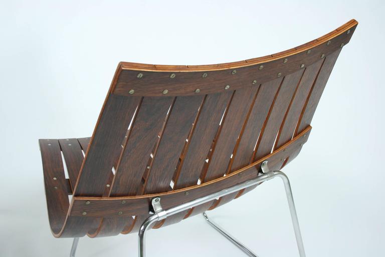 Pair of Kjell Richardsen Tynes möbelfabrik, rosewood lounge chairs circa 1960 For Sale 1