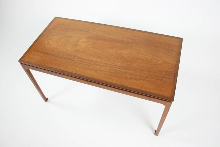 Danish Ole Wanscher Coffee Table in Cuban Mahogany for A. J. Iversen, Denmark For Sale