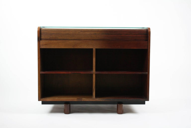 Mid-20th Century Gianfranco Frattini Desk with Roll Top in Rosewood, circa 1962 for Bernini Italy For Sale