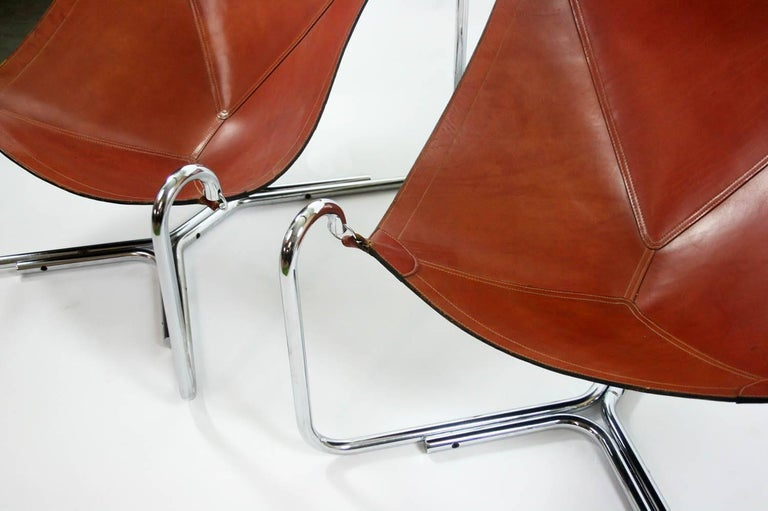 Gianni Pareschi and Ezio Didone Baffo Lounge Chairs for Busnelli, Italy, 1969 In Good Condition For Sale In Chicago, IL