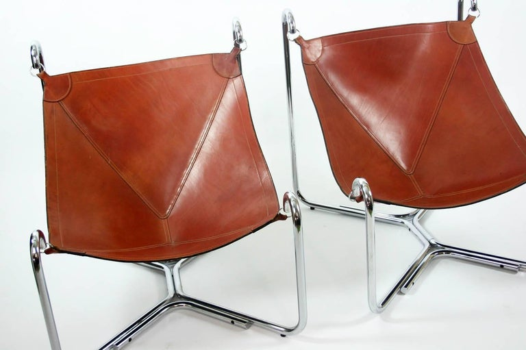 20th Century Gianni Pareschi and Ezio Didone Baffo Lounge Chairs for Busnelli, Italy, 1969 For Sale