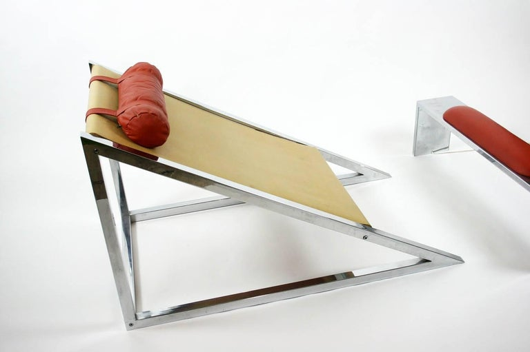 Mies Chair and Ottoman, Archizoom Associati, 1969 For Sale 1
