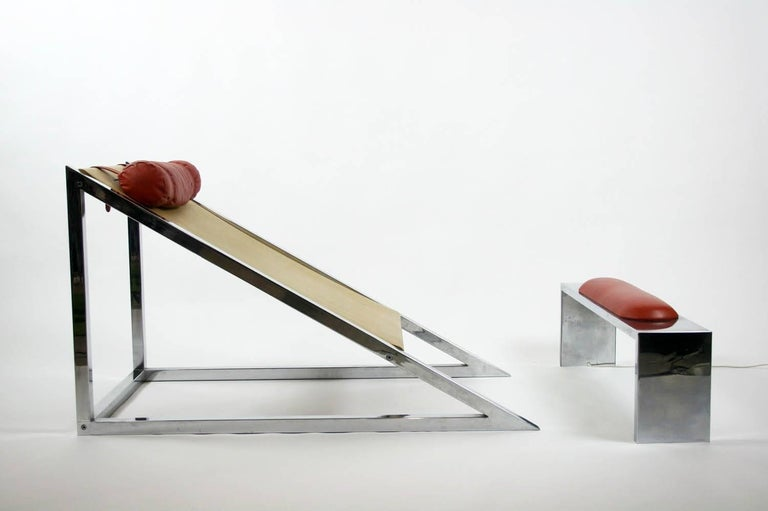 Mies Chair and Ottoman, Archizoom Associati, 1969 For Sale 2
