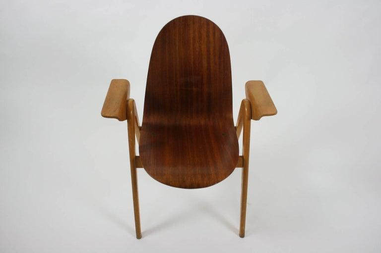 Mid-Century Modern 1953 Molded Plywood Armchair by Yngve Ekstrom For Sale