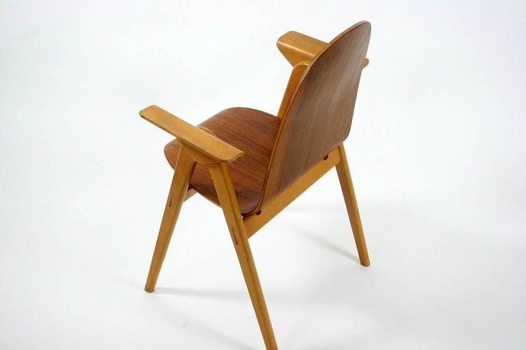 20th Century 1953 Molded Plywood Armchair by Yngve Ekstrom For Sale