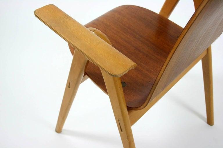 Beech 1953 Molded Plywood Armchair by Yngve Ekstrom For Sale
