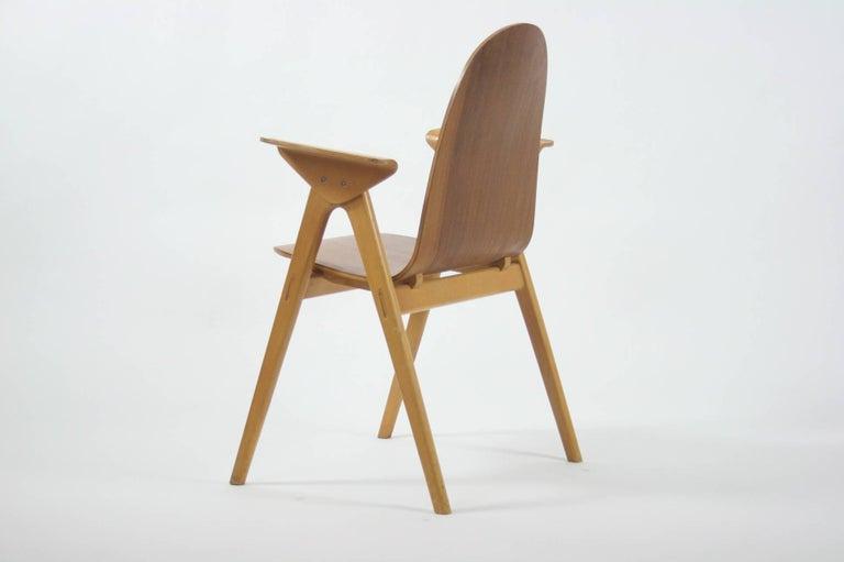 1953 Molded Plywood Armchair by Yngve Ekstrom For Sale 2