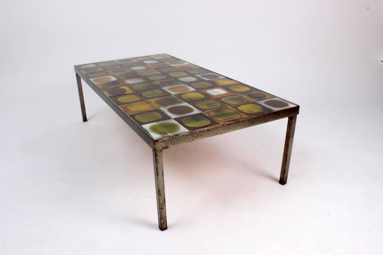 coffee table planete by roger capron enameled ceramic. Black Bedroom Furniture Sets. Home Design Ideas