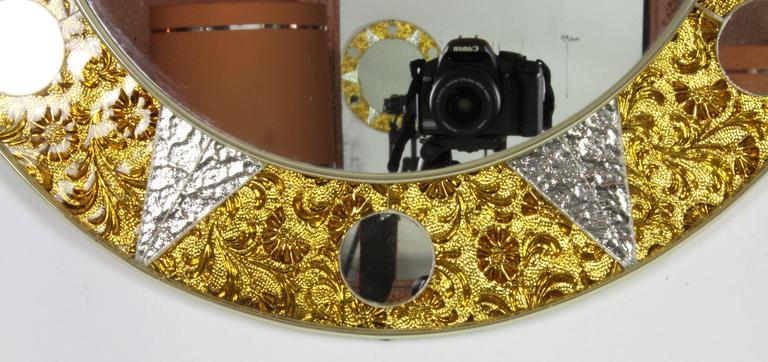 Unusual 20th Century Circular Mosaic Sun Mirror In Excellent Condition For Sale In Barcelona, ES