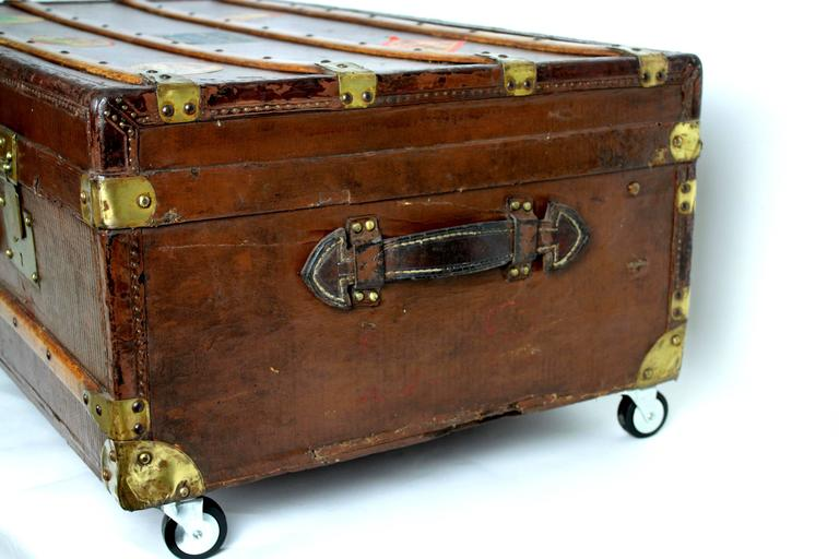 19 th c. French Steamer Trunk as Coffee Table For Sale at ...