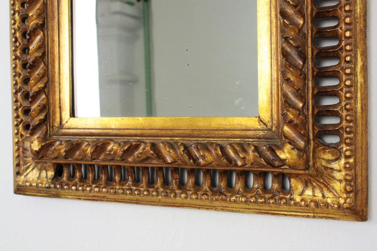 19th Century Spanish Baroque Style Giltwood Mirror In Excellent Condition For Sale In Barcelona, ES