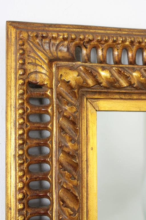 19th Century Spanish Baroque Style Giltwood Mirror For Sale 1