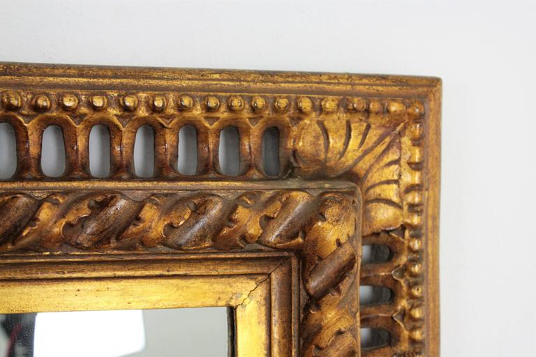 19th Century Spanish Baroque Style Giltwood Mirror For Sale 2