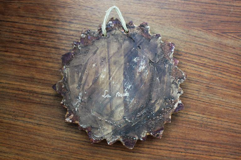 La Roue Vallauris Ceramic Sunburst Mirror in the Manner of Georges Pelletier 6