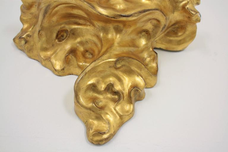 Antoni Gaudí Art Nouveau Giltwood Wall Console For Sale at 1stdibs