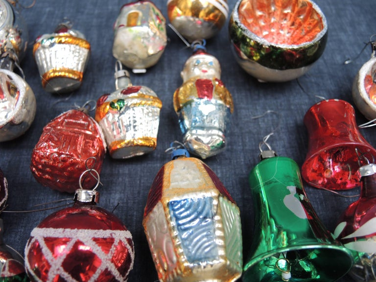 Vintage Collection of 28 Glass Christmas Ornaments 3