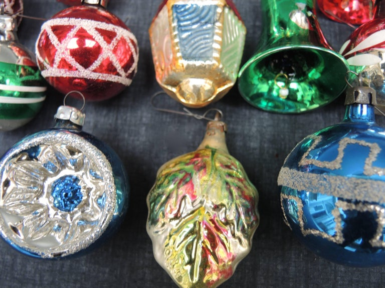 Vintage Collection of 28 Glass Christmas Ornaments 6